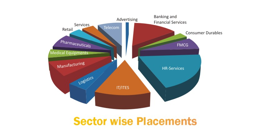 sectorwise placements chart