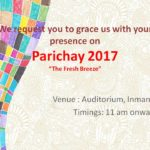 PARICHAY – A Fresher's Party  for PGDM & MBA on 23rd Sept.'17