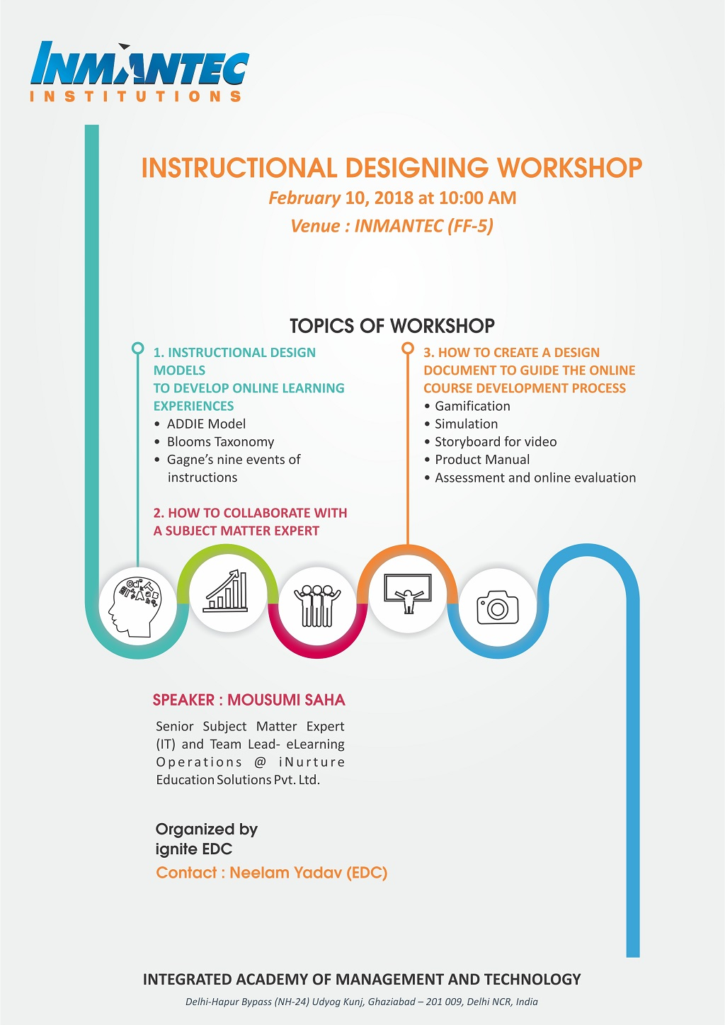 Workshop On Instructional Designing And Storyboarding By Edc Entrepreneurship Development Cell Inmantec Institutions