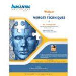 Webinar on Memory Techniques